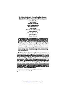 scholar practitioner model psychology