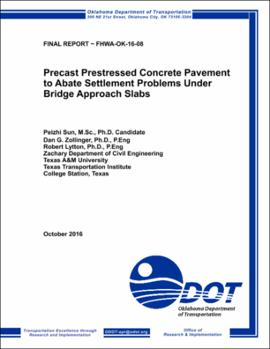 Precast Prestressed Concrete Pavement to Abate Settlement Problems