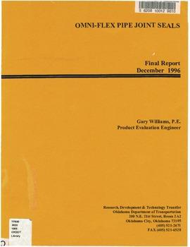 Omni-flex pipe joint seals (FHWA-OK-96-01) 2700