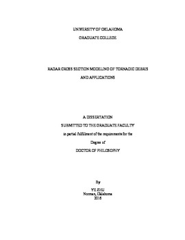 Radar cross section modeling of tornadic debris and applications
