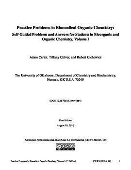 Practice Problems in Biomedical Organic Chemistry: Self