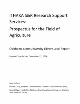 ITHAKA S&R research report services: Prospectus for the